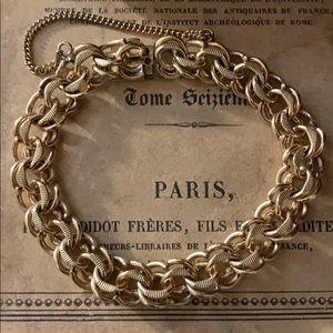 Vintage a&z 12kt. Gold filled charm bracelet